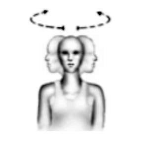 rehabilitación de cuello ejercicio de rotación de cuello